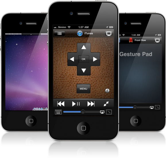 Remote HD running on an iPhone4