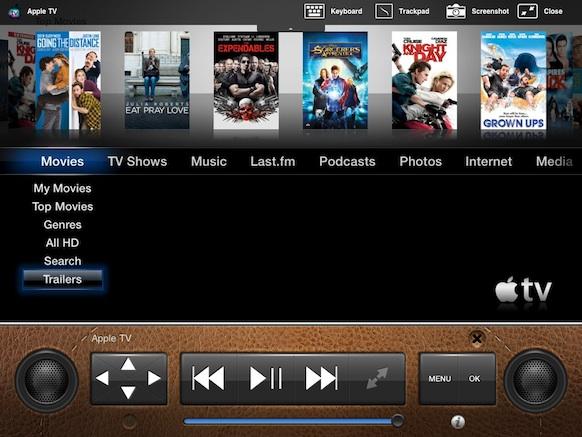 Options in fullscreen