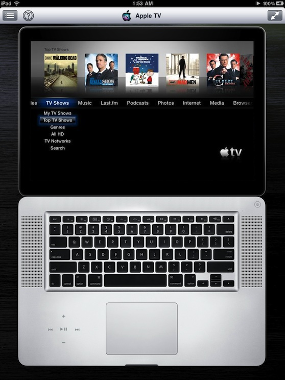 Remote HD controlling AppleTV