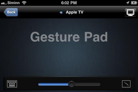 Controlling AppleTV using Gesure Pad