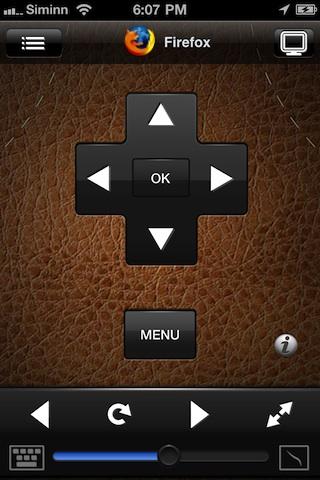 Remote HD controlling Firefox