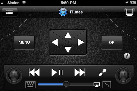 Remote HD controlling iTunes